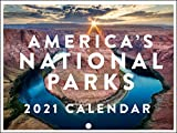 Americas National Parks Travel Great Outdoors Nature Photography Grand Canyon Yellowstone 2021 Wall Calendar 12 Month Monthly Full Color Thick Paper Pages Folded Ready to Hang 18x12 inch