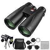 usogood 12x50 Binoculars for Adults with Nitrogen Filled IPX7 Waterproof, High Power Binoculars for Bird Watching, Hiking, Hunting and Stargazing with Tripod Phone Adaptor