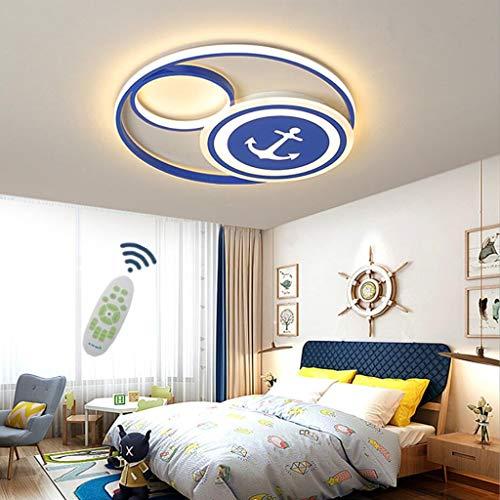 WJLL Lámpara De Techo LED Candelabro Pirata Dibujos Animados Marinero Timón Luz De Techo Pantalla Acrílico Regulable 3000K-6500K Dormitorio Habitación De Los Niños Iluminación Colgante,50cm