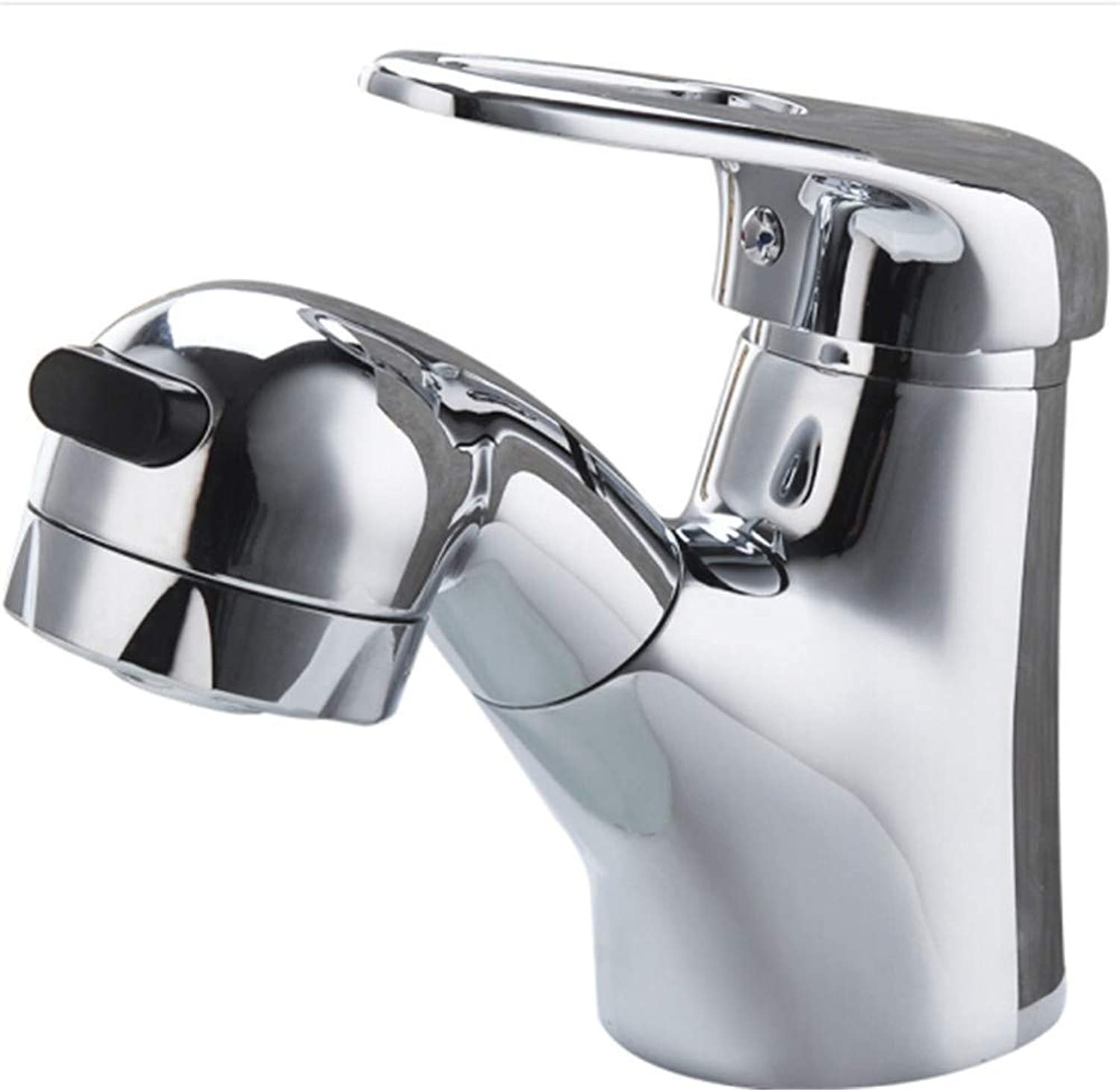 Counter Drinking Designer Archcopper Pull Faucet Washbasin Cold and Hot Faucet