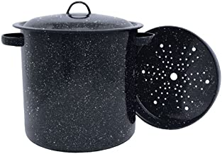 Granite Ware Tamale Pot with Steamer Insert, 15.5-Quart