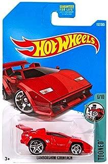 Hot Wheels 2017 Tooned Lamborghini Countach 152/365, Red