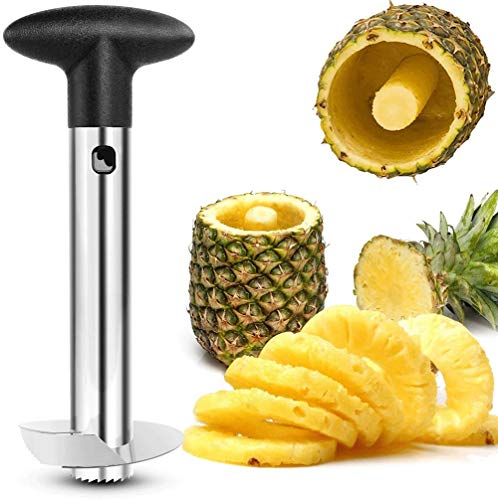 VANUODA Nieuwe Opgewaardeerde RVS Fruit Ananas Slicer Cutter Corer Mes - Ananas Core Remover - Fruit Tool for Home & Kitchen