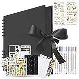 Kaszo - �lbum de fotos para manualidades, 80 páginas negras