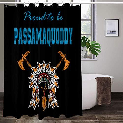 Indianer Passamaquoddy Kopfschmuck Wasserdichter Stoff Duschvorhang für Badezimmer mit 12 Kunststoff-Haken 178 x 178 cm
