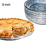 Juego de 50 sartenes de aluminio premium de 22,86 cm. Platos desechables para lata Pies Tart Quiche