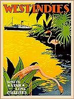 ERZAN大人のパズル木製パズル1000西インド諸島カリブ海ホワイトスタークルーズヴィンテージトラベルアート大人子供パズル