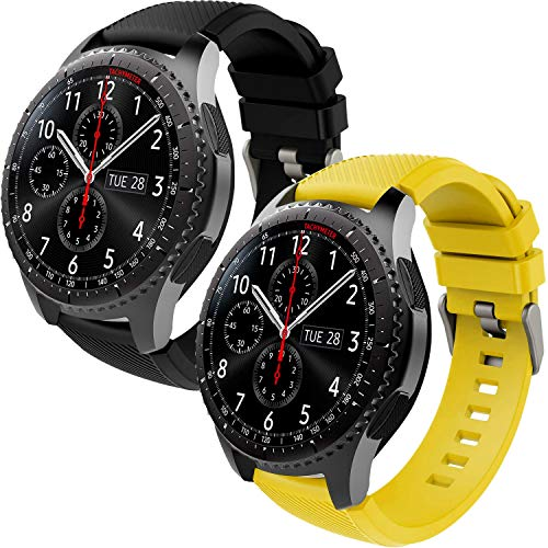 Th-some Correa para Samsung Gear S3 Frontier - Pulsera de Silicona para Galaxy Watch 46mm, Banda de Reloj de Silicona Suave Deportiva Pulsera de Repuesto para Galaxy Watch 46mm/ Gear S3/ Gear S4