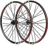 Ruedas De Bicicleta,llantas bicicleta 26 bicicleta pulgadas juego de ruedas hub aleación de aluminio ultraligero doble pared Bordes de freno de ruedas Palin disco de cojinete 8 9 10 11 28H velocidad