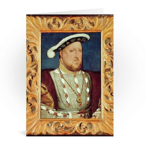 King Henry VIII (oil on oak panel) by Hans.. - Grußkarten (2er Packung) - 17,8x12,7 cm - Standardgröße - Packung mit 2 Karten - Art247