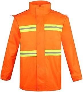 BGROESTWB Snow Rainwear Lightweight Waterproof Rainproof Raincoat Men's Hooded Jacket Rainproof Jacket Waterproof Reflecti...