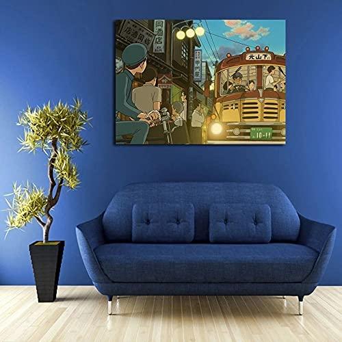 GBHNJ Mural 1 Piezas Pintura En Lienzo,1 Piezas Cuadros En Lienzos Shiro Y Bus Hill Modular Moderna 1 Piezas,Mural Pared Salon 3D,Decorativo Pared,Listo para Colgar,Creative Gift XXL 50X70Cm