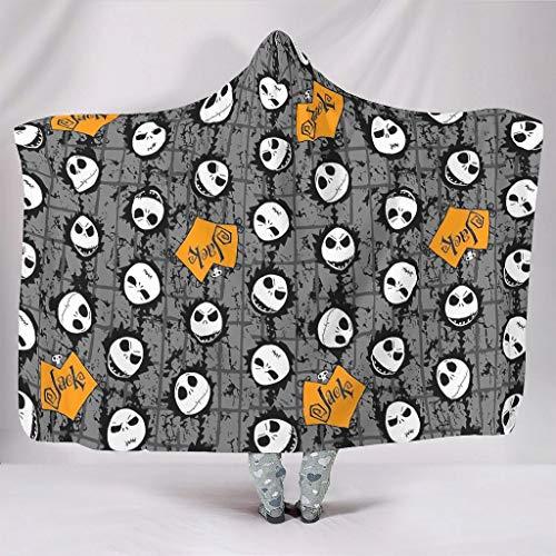 Zhcon - Manta con capucha para Halloween, de gran tamaño, súper cálida, con capucha, para ver TV para niños y adultos, color blanco de 50 x 152 cm
