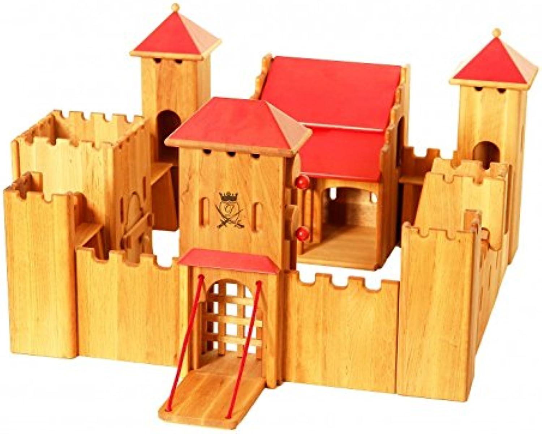 Erst-Holz 931-190 Schlo Ritterburg von Drewart kologisches Holzspielzeug Kastell, Burg