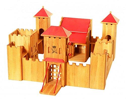 Erst-Holz 931-190 Schloß Ritterburg von Drewart ökologisches Holzspielzeug Kastell, Burg