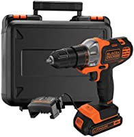 Black+Decker 18V 1.5Ah 10mm Li-Ion Cordless Multi-Evo Multitool Starter Kit with Drill Driver Head for Home, Office &...