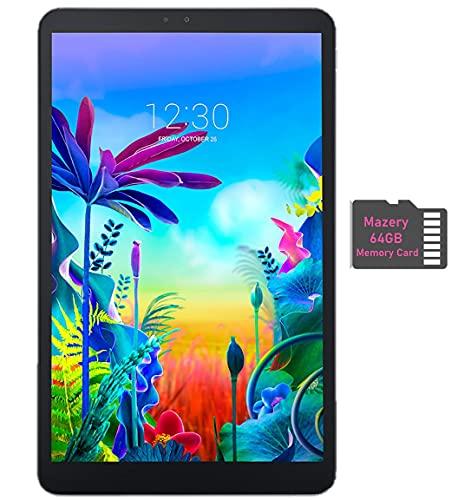 LG G Pad 5 10.1-inch (1920x1200) 4GB LTE Unlock Tablet, Qualcomm MSM8996 Snapdragon Processor, 4GB RAM, 32GB Storage, Bluetooth, Fingerprint Sensor, Android 9.0 w/Mazery 64GB SD Card