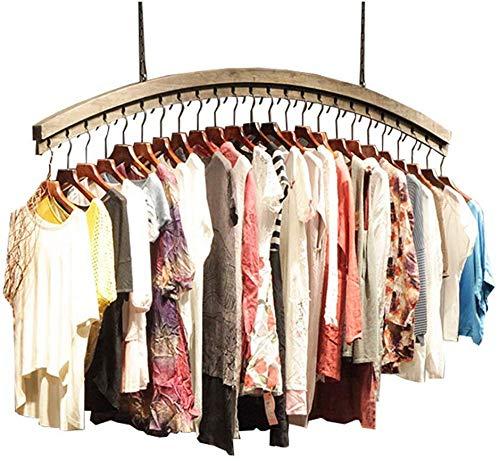 FF Vintage muur houten rekken houten plafond display stand kledingrek mannen kleding winkel en vrouwen kleding winkel (Maat: 100CM)