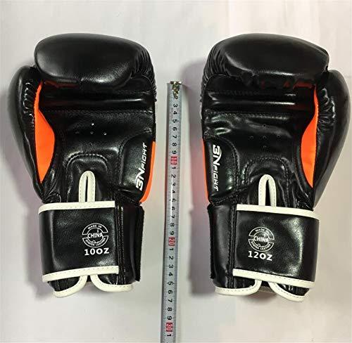 SYLL 8OZ 10OZ 12OZ Guantes de Boxeo de Cuero PU duraderos Estilo MMA Muay Thai Protector de Karate Gimnasio Punch Kick Training Guantes de Boxeo,Naranja,10OZ