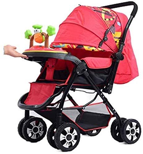 Sillas de paseo Cochecito de bebé Puede Sentarse Doble Cochecito de bebé de Alta Paisaje amplió la Cuatro Estaciones Universal Cochecito de bebé Carritos (Color : C)