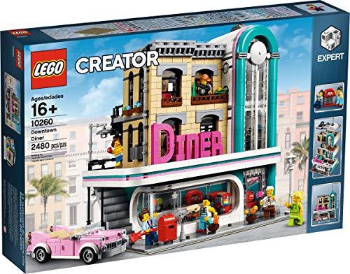 LEGO Creator Expert-Restaurante del centro, juguete de construcción de local retro estilo art déco de los años 50 (10260)