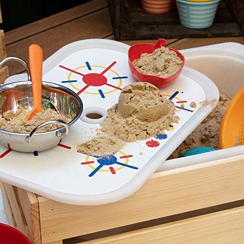 Limmaland Matschküche Bauen mit Herdplatten-Sticker passend für Deine IKEA Trofast Box - Boxen Nicht inklusive