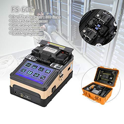 Fusionadora de Fibra Optica,100-240V Soldadora de fibra óptica FS-60C que empalma la fibra óptica de la fusión de la máquina para SM, MM, NZ-DS, y tipos de fibra óptica autodefinidos(eu)