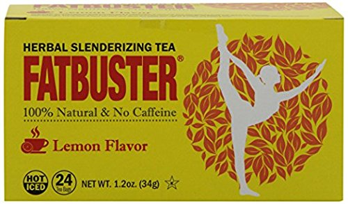 Fatbuster Weight Lost Herbal Slenderizing Tea Lemon Flavor 24-Count (Pack of 4)