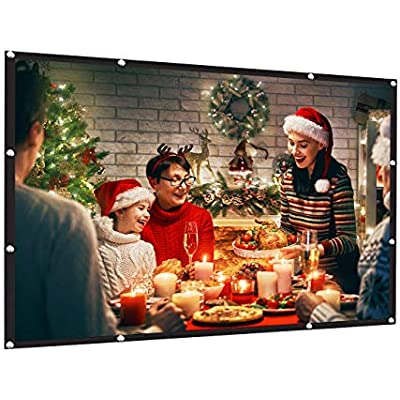 Outdoor/&Indoor Theater AMWOKE Projector Screen,100 inch Portable Projection Screen with 16:9 HD Movie Screen and Foldable for Home Cinema