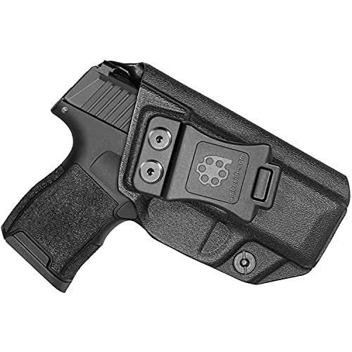 Amberide IWB KYDEX Holster Fit: Sig Sauer P365 / P365 SAS / P365X Pistol   Inside Waistband   Adjustable Cant   US KYDEX Made (Black, Right Hand Draw (IWB))