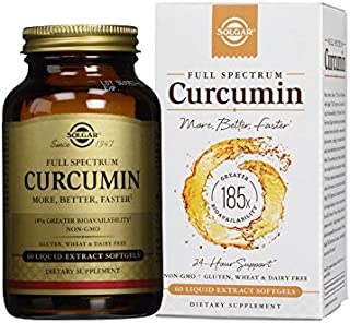 Solgar - Full Spectrum Curcumin Liquid Extract, 60 Softgels (FFP)