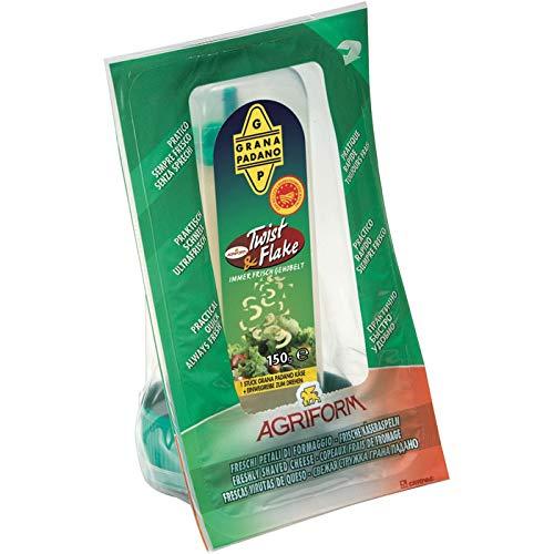 Agriform Twist & Flake Grana Padano D.O.P. 16 Monate gereift, inkl. Käsereibe 250 g