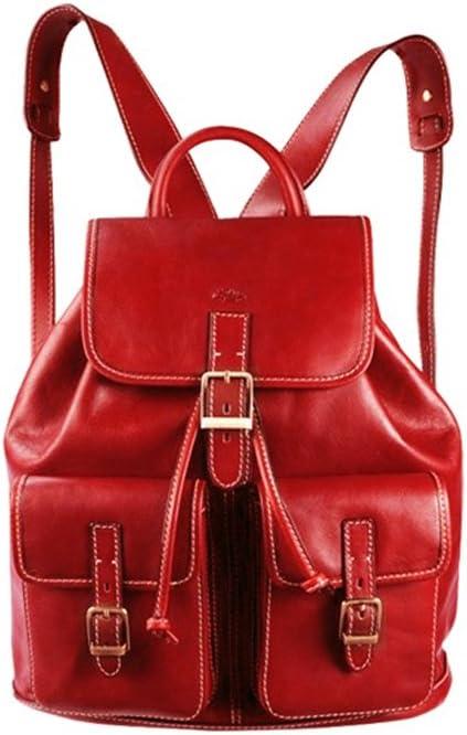 Katana, zaino in pelle per donna, rosso K32543