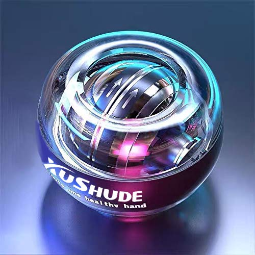 Gyroscope Ball Power Wrist Ball,Exercices De Poignet à DéMarrage Automatique Balle De Force avec LED Spinball Hand & Armtrainer