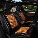 Wood Bead Car Seat Cover Cushion, Cooling & Breathing, Automotive Beaded Driver Seat Massager Cushion for Lower Back Pain