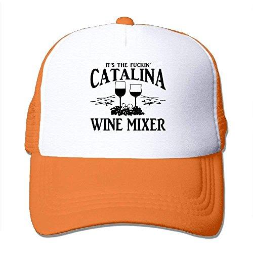 Hoswee Unisex Kappe/Baseballkappe, Adult Fuckin' Catalina Wine Mixer Mesh Dancing Cap Hat Black