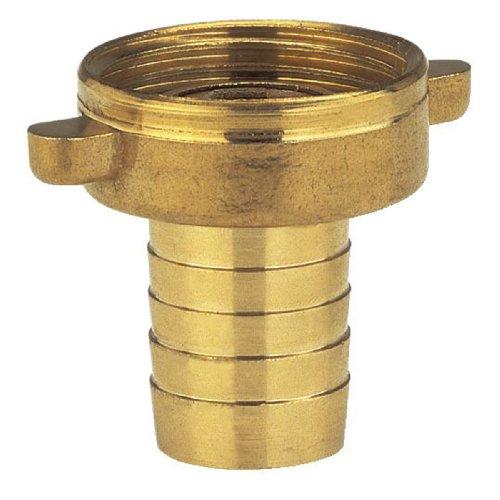 Gardena Messing-Schlauchverschraubung 2-teilig: Verschraubung aus hochwertigem Messing, 26.5 mm (G 3/4 Zoll)-Gewinde, für 13 mm (1/2 Zoll)-Schläuche (7140-20)