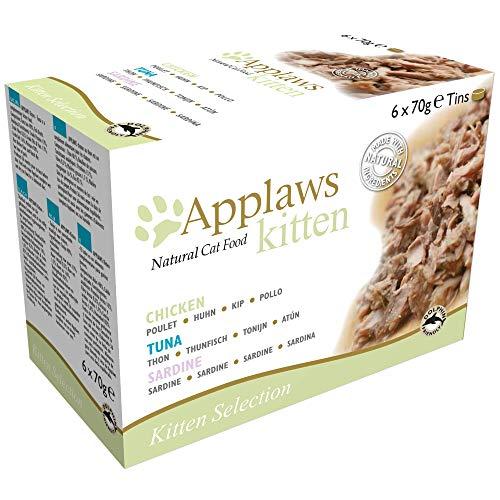 Applaws Gatto Dose Kitten Multi Pack, Confezione da (6X 70G)