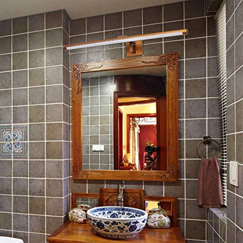 ZHUYUE zeer goede badkamerspiegel licht badkamer boven de spiegel-licht-waterdichte wandlamp met LED-lamp voor make-up kaptafel klappen vrij (kleur: messing, maat: M)