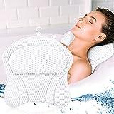 Almohada de Baño, Reposacabezas Bañera con 6 Ventosas, Soporte Suave la El Cuello, los Hombros y la Espalda y una cómoda Alfombra de baño, para SPA en Casa Bañera de Hidromasaje e Hidromasaje