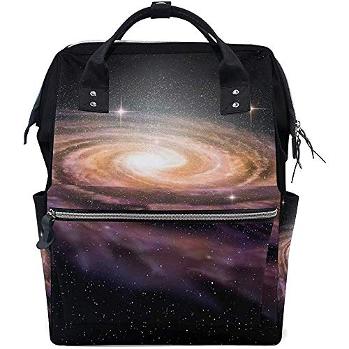 Daypacks Spiral Galaxy Space Travel Windel Rucksack Rucksäcke Baby Taschen Reißverschluss Große Kapazität Multifunktion Casual Mama Papa 28X18X40Cm Unisex