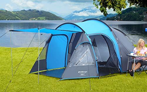 BERGER Tunnelzelt Sora 4 Personen Gruppenzelt Festivalzelt Campingzelt Trekkingzelt WS3000mm Reise