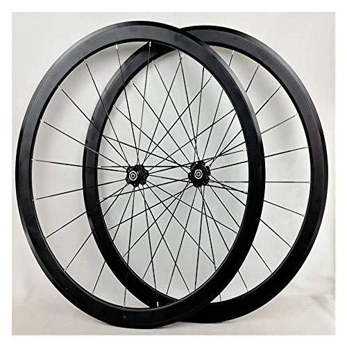 CHUDAN Rennrad Laufradsatz, 700C Doppelwandige Leichtmetall Felgen V Bremse 40mm Vorderrad Hinterrad BMX straße Fahrrad räder Schnellspanner für 7 8 9 10 11 12 Geschwindigkeit 1890g / Paar,A