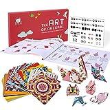 JoyCat Papier Origami,Lot de 90 feuilles Origami Papier, Recto-verso à Motifs, Multicoloré, 30 Projets Origami Manuel d'Artisanat Pour L'Entraînement des Débitants et Les Cours d'Artisanat