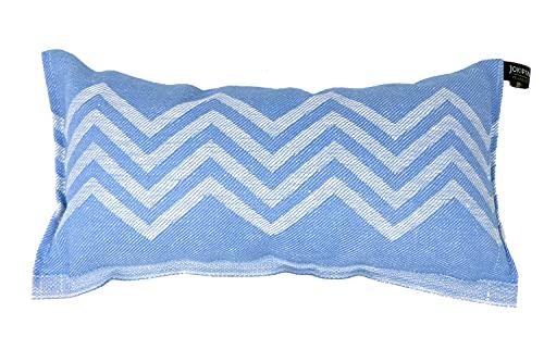 Jokipiin | 1 Saunakissen Lieblingskissen Reisekissen | Design: Peak | Maße: 40 x 22 cm, Leinen/Baumwolle | schadstofffrei Ökotex 100 | hergestellt in Finnland (blau/weiß)