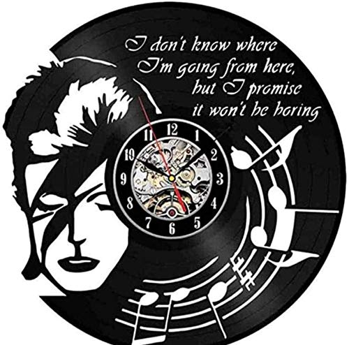 WZCXYX Reloj de pared 3D con diseño moderno de música, pegatinas de vinilo, reloj de pared, reloj de pared, decoración del hogar, regalos para abanicos con decoración LED