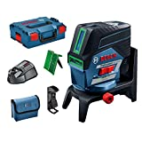 Bosch Professional 12V System Laser Level GCL 2-50 CG (1 battery 12V + charger, green laser, interior, w/app function, mount, visible working range: up to 20m, in L-Boxx)