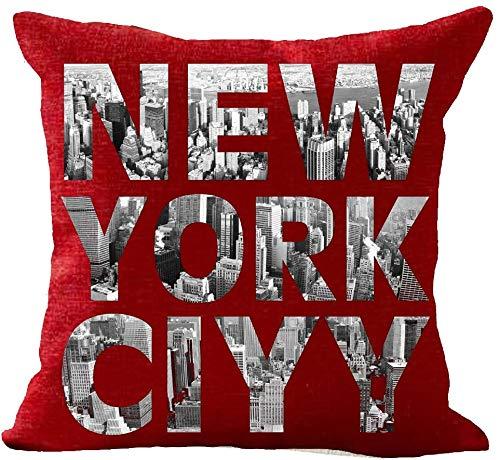 Beatete Empire State Building New York City - Funda de cojín decorativa para sofá, 45,7 x 45,7 cm