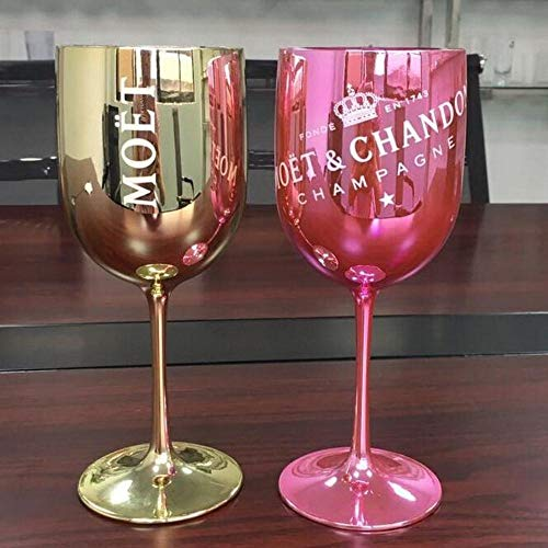Kreative Cup Kunststoff Wein-Party Weiß Champagne Coupe Cocktail-Glas Moet Champagner Flöten Wine Cup One Piece, Rosa