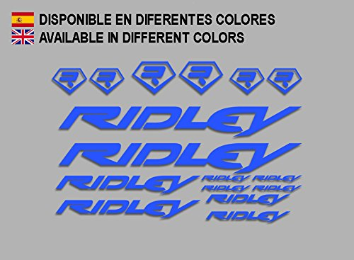 Ecoshirt DL-ULCW-OH04 Aufkleber Ridley Bike F133 Stickers Aufkleber Decals Autocollants Adesivi, blau
